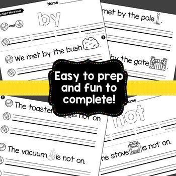 Sight Word Fluency Books {First Hundred Fry Words Edition}