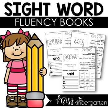 Editable Sight Word Fluency Books (Can be used for distance learning)