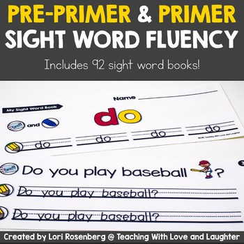 Sight Word Fluency Books {Pre-Primer and Primer Edition} Distance Learning