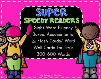 Sight Word Fluency {Fry's 300-600}