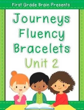 Sight Word Fluency Bracelets - works with Journeys Unit 2 1st Grade
