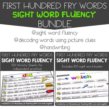 Sight Word Fluency Bundle {First Hundred Fry Words Edition} Distance Learning