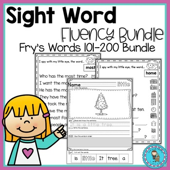Sight Word Fluency Bundle Frys List 101-200