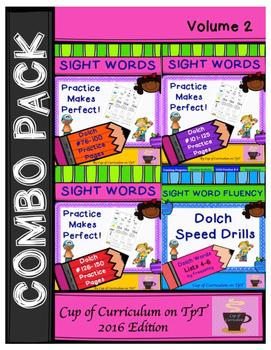 Sight Word Fluency Practice BUNDLE Vol.2