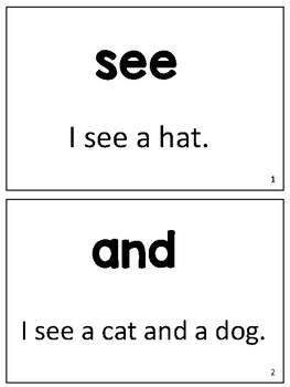 Sight Word Fluency Cards for Reading Intervention (Set 1)