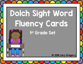 Sight Word Fluency Cards with Tracking Sheet - 1st Grade
