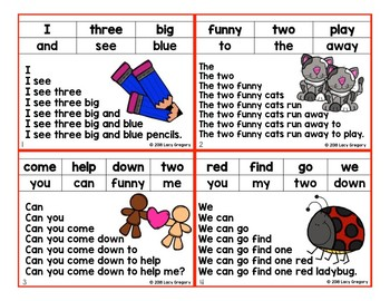 Sight Word Fluency Cards with Tracking Sheet - Pre-Primer