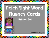 Sight Word Fluency Cards with Tracking Sheet - Primer