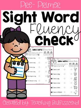 Sight Word Fluency Check (Set 1)