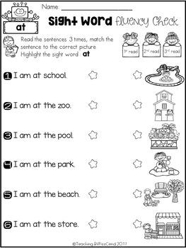 Sight Word Fluency Check (Set 2)