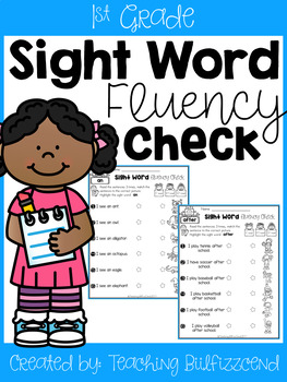 Sight Word Fluency Check (Set 3)