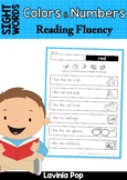 Sight Word Fluency Reading Homework (Colors and Numbers)