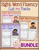 Sight Word Fluency Cut and Paste the Bundle