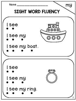 Sight Word Fluency (Dolch Pre-Primer)