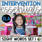 Sight Word Fluency Essentials #1: Intervention and Small G