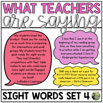Sight Word Fluency Essentials #4: Intervention and Small Group Resources