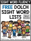 Sight Word Fluency: FREE Dolch Sight Word Lists