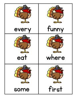 Sight Word Fluency - Fall/Winter Holidays Pack
