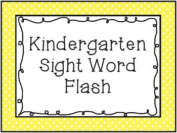 Sight Word Fluency Flash