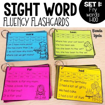 Sight Word Fluency Flashcards: FRY Words 1-100