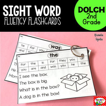 Sight Word Fluency Flashcards: DOLCH Second Grade