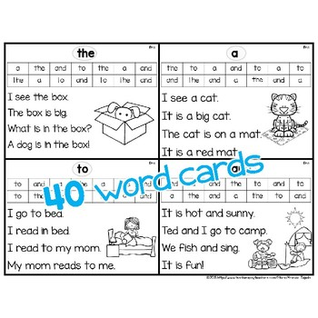 Sight Word Fluency Flashcards: DOLCH Pre-Primer