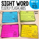 Sight Word Fluency Flashcards SET 2: FRY Words 101-200