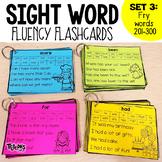 Sight Word Fluency Flashcards SET 3: FRY Words 201-300