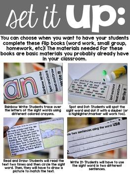 Sight Word Fluency Flip Books - Set One