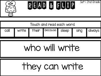 Sight Word Fluency- Flip and Read- Dolch 2nd Grade
