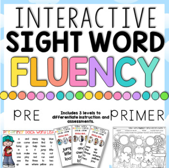 Sight Word Fluency Fun Pre-Primer