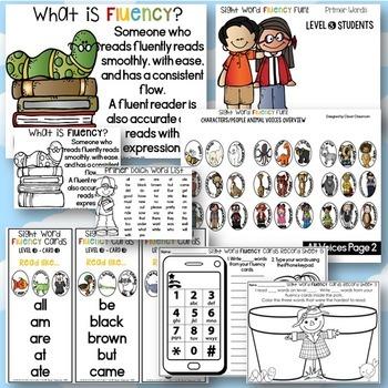 Sight Word Fluency Fun Primer