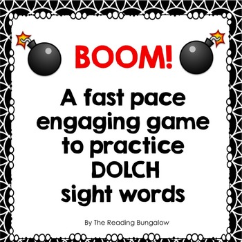 Sight Word Fluency Game - BOOM!