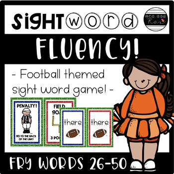 Sight Word Fluency Game - FRY Words 26-50