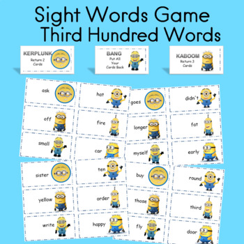 Sight Word Fluency Game Fry Third Hundred words