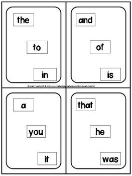 Sight Word Fluency Game-Levels 1 FREEBIE