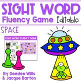 Sight Word Fluency Game (editable)   SPACE