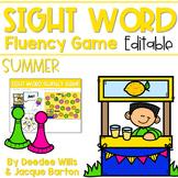 Sight Word Fluency Game (editable) | SUMMER