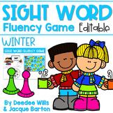 Sight Word Fluency Game (editable) | WINTER