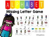 Missing Letter Game Last to Practice Alphabet Order and Alphabetic Principle