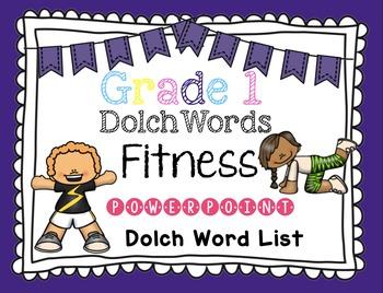 Sight Word Fluency -Grade One Dolch Word List Brain Break