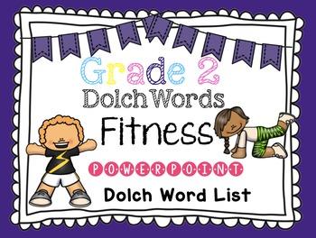 Sight Word Fluency -Grade Two Dolch Word List Brain Break