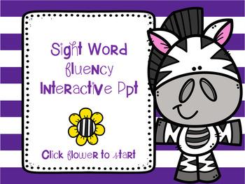 Sight Word Fluency Interactive PPT