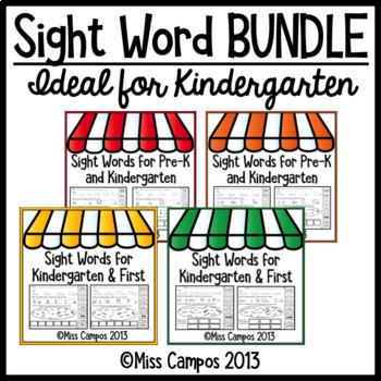 Sight Word Fluency - BUNDLE