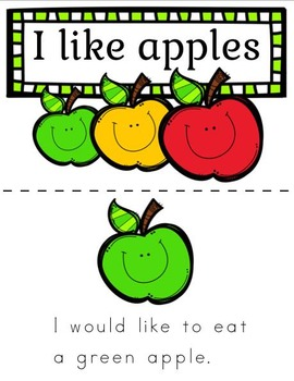 Apples Sight Word Fluency Pages and Book (by Priscilla Beth @Daycare Support)
