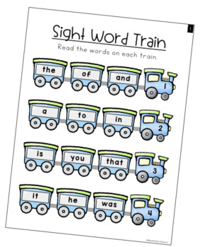 Sight Word Fluency Paperless Daily Warm Up Lessons