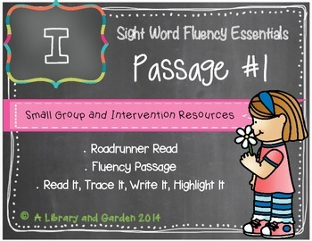 Sight Word Fluency Passage #1: I FREEBIE
