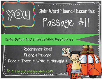 Sight Word Fluency Passage #11: YOU