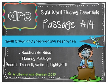 Sight Word Fluency Passage #14: ARE