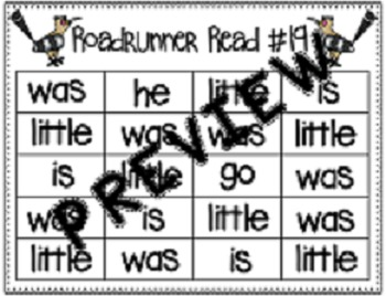 Sight Word Fluency Passage #19: WAS